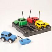 Regenboog auto's (set van 6)