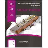 Muziekschrift 40 bladzijden A5