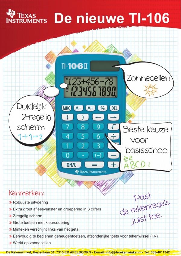 Promotie TI-106II voor basisscholen